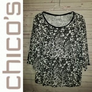 Weekends by Chico's Leopard Print Top   Chico's 3